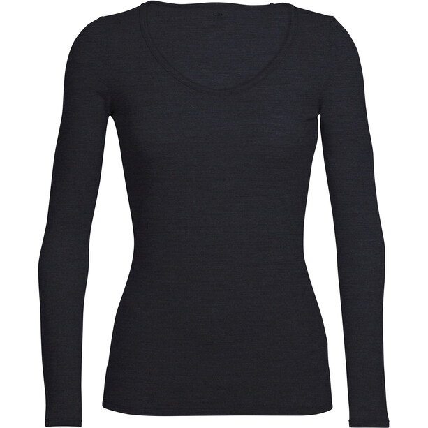 Icebreaker Siren Sweetheart LS Top Dam black