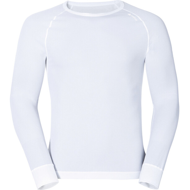 Odlo Cubic Langarm Rundhalsshirt Herren white