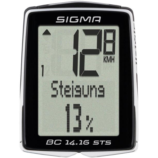 SIGMA SPORT BC 14.16 STS Cykelcomputer trådlås