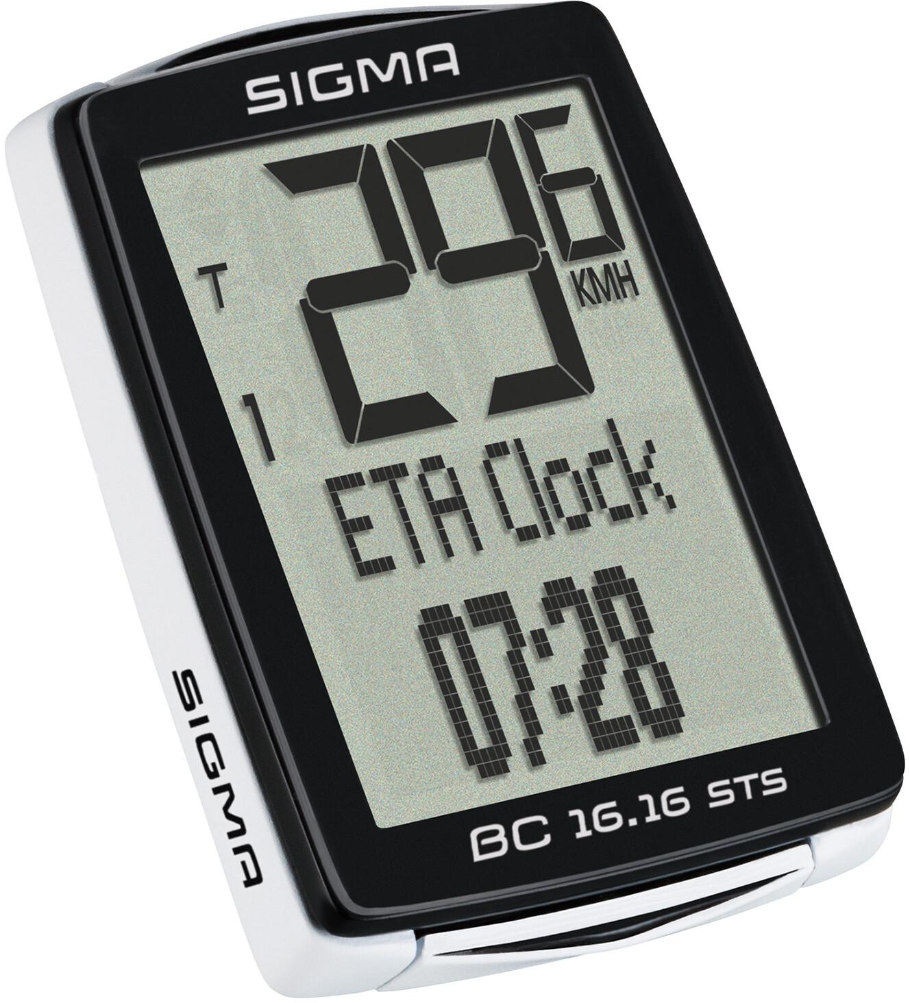 Sigma Ordinateur De Vélo BC 16.16 STS sans fil vélo Compteur de vitesse vélo Compteur de vitesse