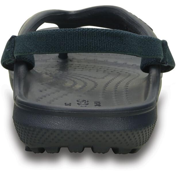 Crocs Classic Flache Sandalen Kinder navy