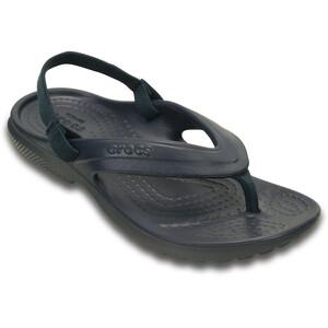 Crocs Classic Flache Sandalen Kinder blau blau