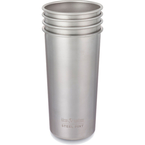 Klean Kanteen Pint Cup 20oz (592ml) 4-pack brushed stainless