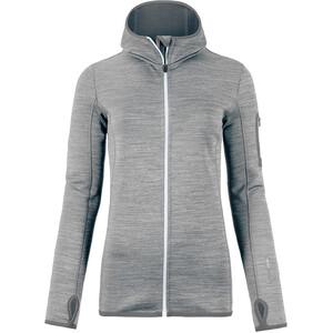 Ortovox Fleece Melange Hoody Dam grey blend grey blend