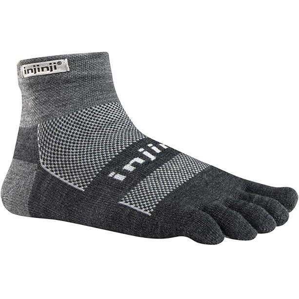 Injinji Outdoor Midweight Mini-Crew NuWool Socks charcoal and black