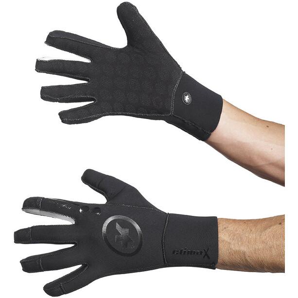 ASSOS rainGloves_evo7 black volkanga