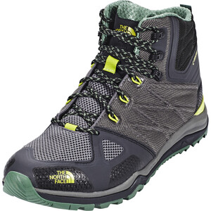 The North Face Ultra Fastpack II Mid GTX Schuhe Herren phantom grey/lime green phantom grey/lime green