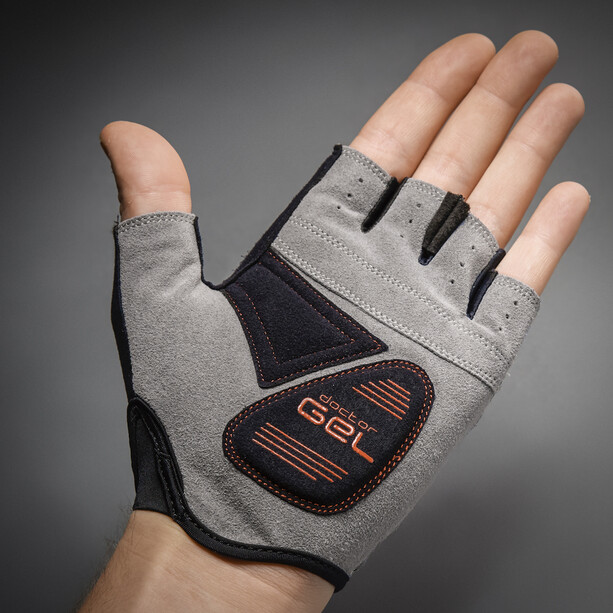 GripGrab EasyRider Gepolsterte Kurzfinger-Handschuhe black