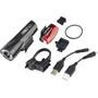 CatEye GVolt 50 HL-EL550GRC + Rapid Micro G Hl-EL620G Set, noir