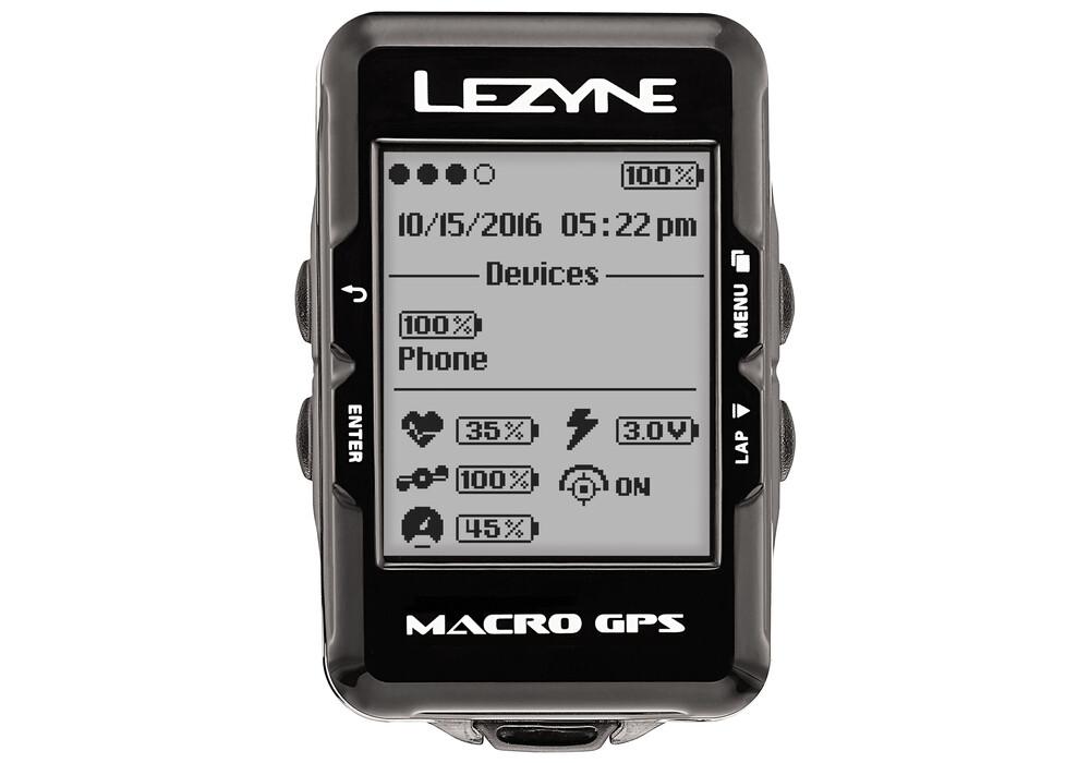 lezyne macro gps fahrradcomputer mit herzfrequenzmessger t. Black Bedroom Furniture Sets. Home Design Ideas