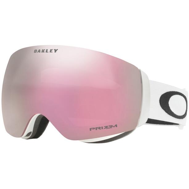 Oakley Flight Deck XM Snow Goggles matte white w/prizm hi pink