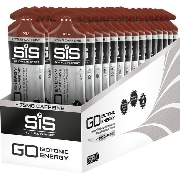 SiS GO Plus Caffeine Gel Box 30x60ml Cola