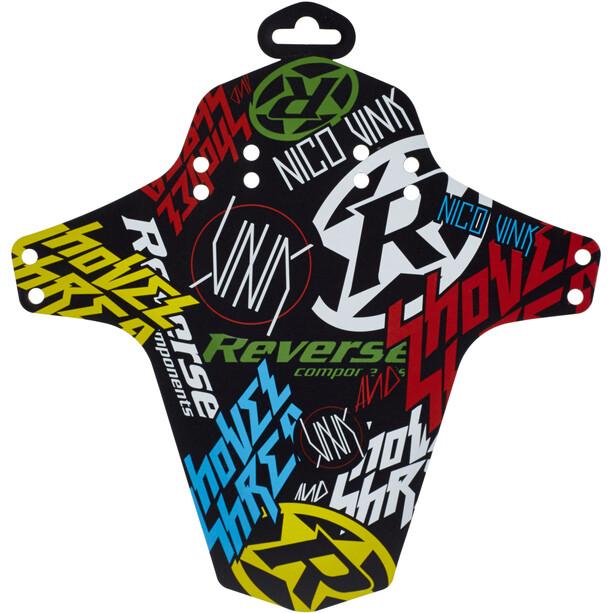 Reverse Nico Vink-Stickerbomb Mudguard black/colourful