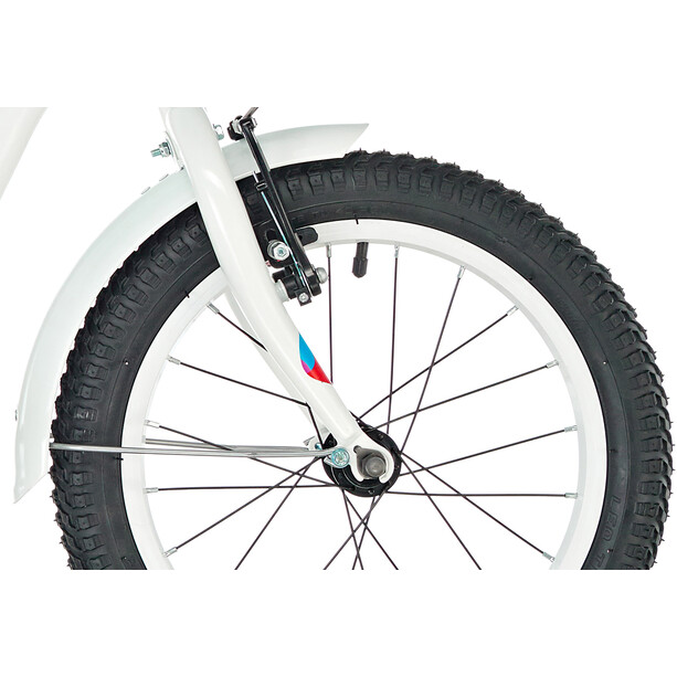 s'cool niXe 16 steel Kinder white/blue/red