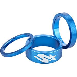 Spank Headset Spacer Kit 3 stycken blue blue