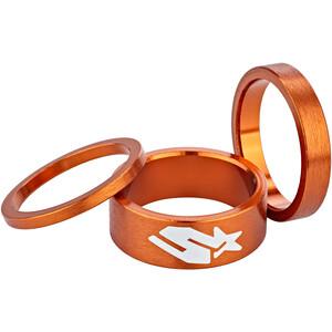 Spank Headset Spacer Kit kit en 3 parties, orange orange