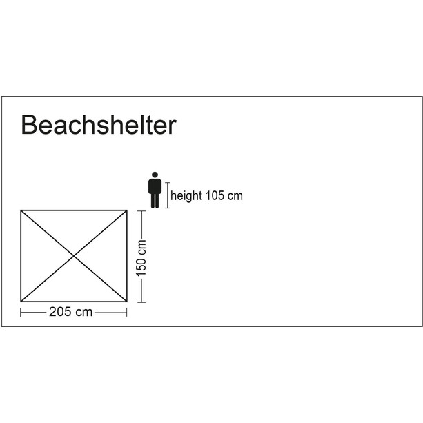 CAMPZ OT UV 40 Strandmuschel beige
