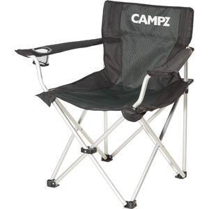 CAMPZ Silla Plegable Aluminio, gris/negro gris/negro