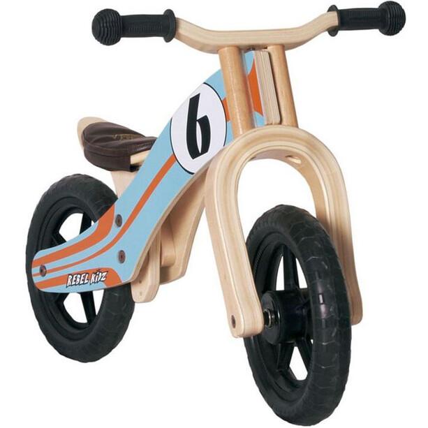"Rebel Kidz Wood Laufrad 12"" Kinder türkis/orange"