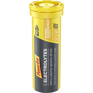 PowerBar 5 Electrolytes Zero Calorie Sports Drink tabletter 10 stk., Mango-Passion Fruit