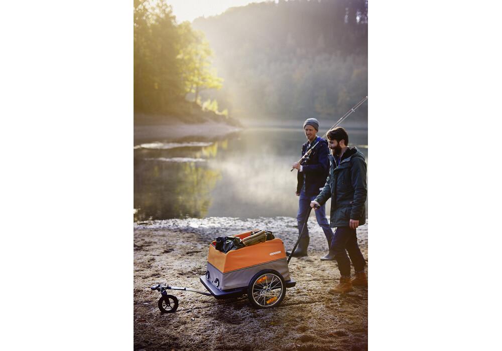 croozer cargo remorque v lo 16 orange marron sur campz. Black Bedroom Furniture Sets. Home Design Ideas