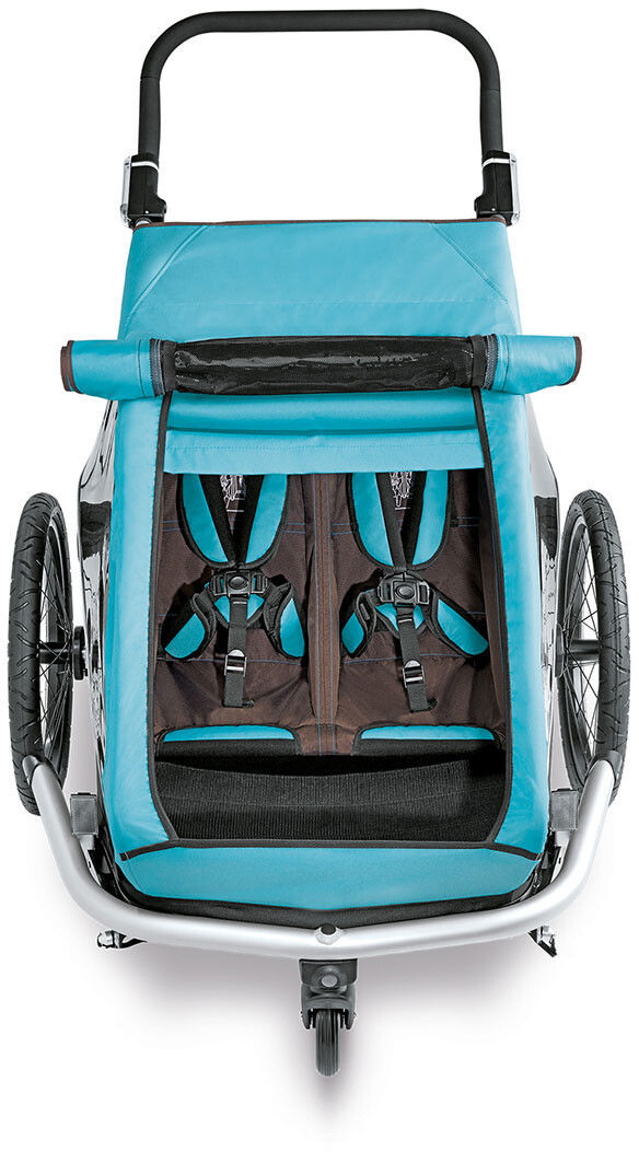 croozer sonnenschutz f r kid plus for 2 sky blue online. Black Bedroom Furniture Sets. Home Design Ideas