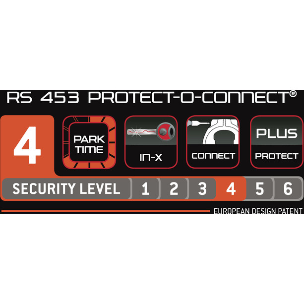 Trelock RS 453 Protect-O-Connect Rahmenschloss AZ Balloon ZR 20 schwarz