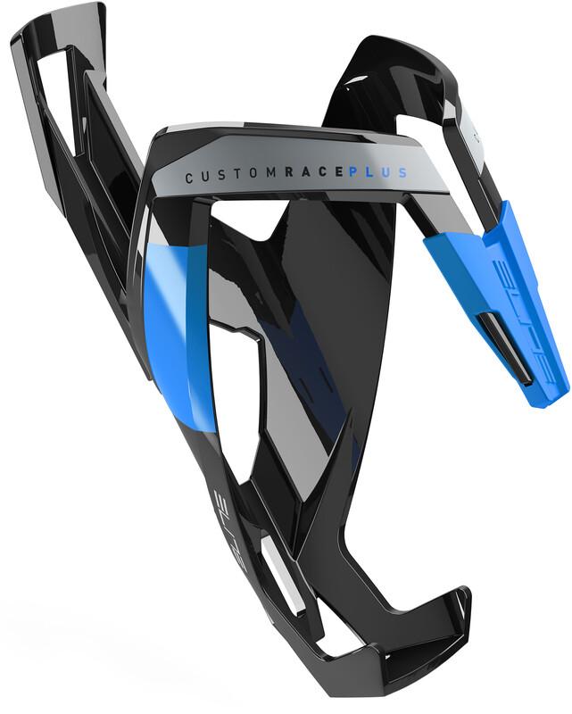 Custom Race Plus Flaschenhalter schwarz glänzend/blau 2017 Flaschenhalter