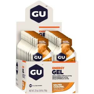 GU Energy Gel Box 24 x 32g Salted Caramel