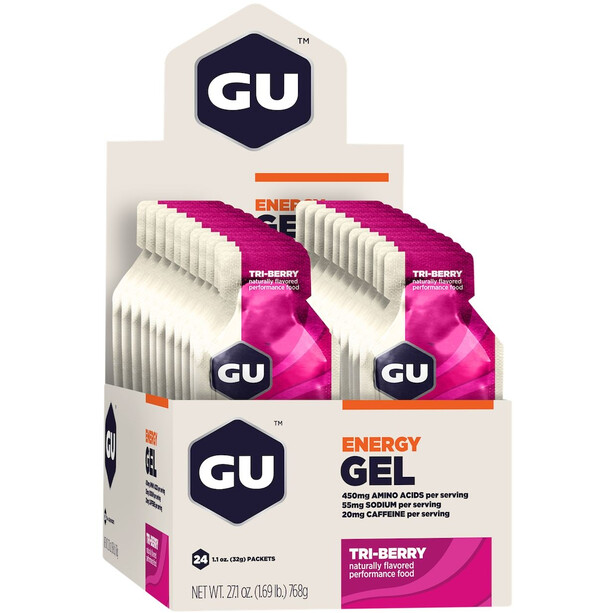 GU Energy Gel Box 24 x 32g Tri Berry