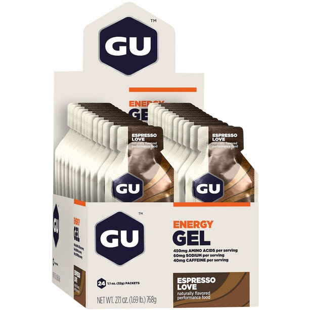 GU Energy Gel Box 24 x 32g Espresso Love