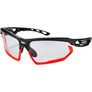 Rudy Project Fotonyk Brille black matte/bumpers red fluo impactX photochromic 2 black black matte/bumpers red fluo impactX photochromic 2 black