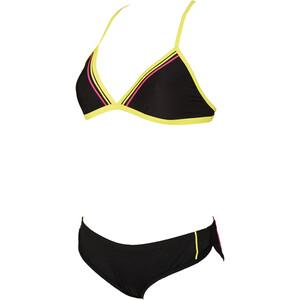 arena Sporty 2 Triangle Bikini Damen black/soft green/fresia rose black/soft green/fresia rose