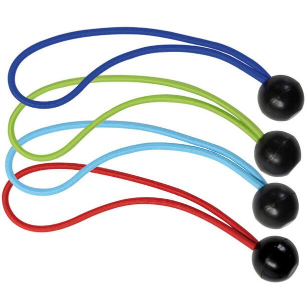 Masterlock Kugelkopf Spanngummi 200mm 4er-Pack rot, blau, hellblau, grün