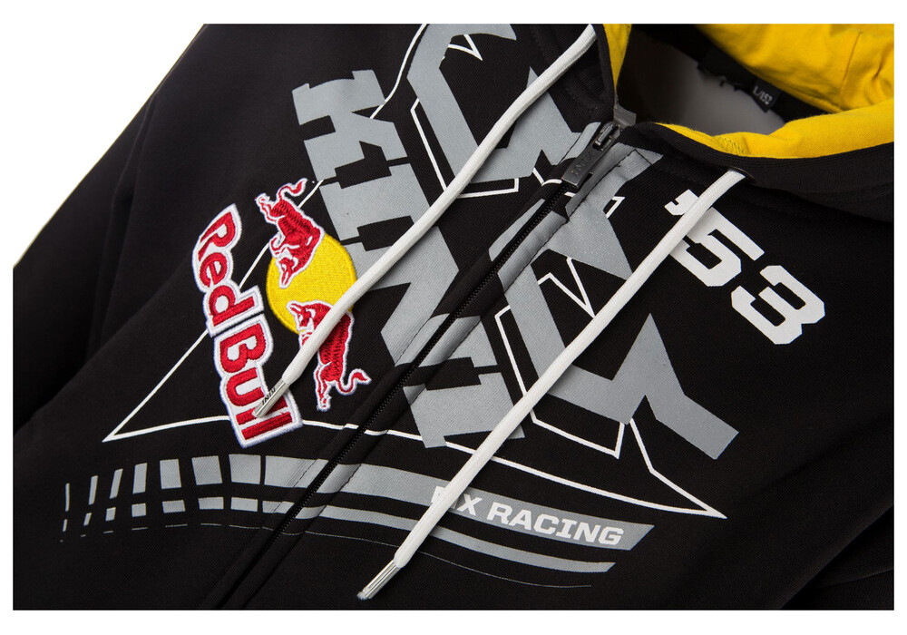 kini red bull ribbon hoodie men black yellow online kaufen. Black Bedroom Furniture Sets. Home Design Ideas