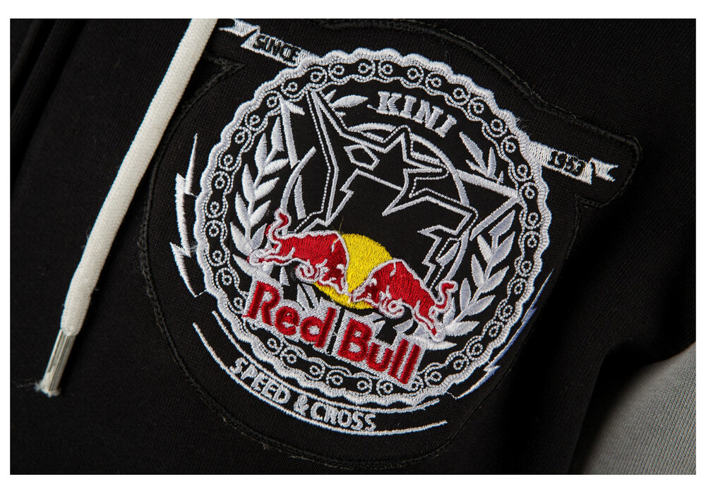 kini red bull crest hoodie men black grey online kaufen. Black Bedroom Furniture Sets. Home Design Ideas
