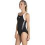 speedo Boom Splice Muscleback Badeanzug Damen black/white
