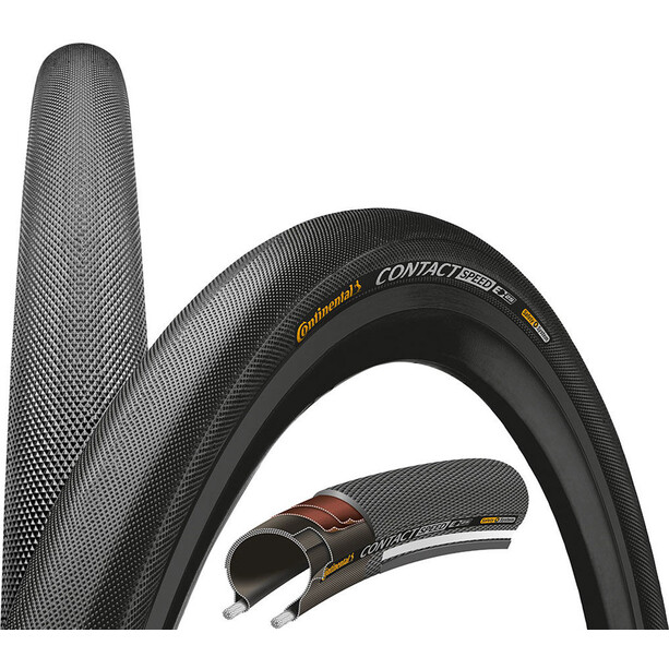 """Continental Contact Speed Tyre Double Safety System Breaker 27.5"""" wire reflex"""