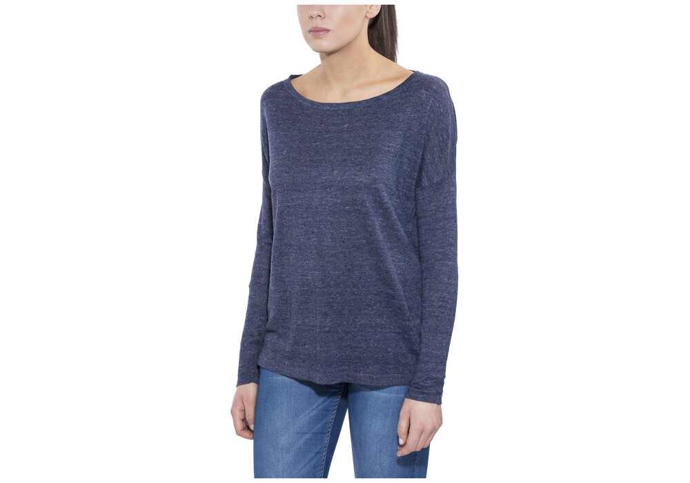 Patagonia lightweight linen longsleeve shirt women blue at for Lightweight long sleeve shirts women s