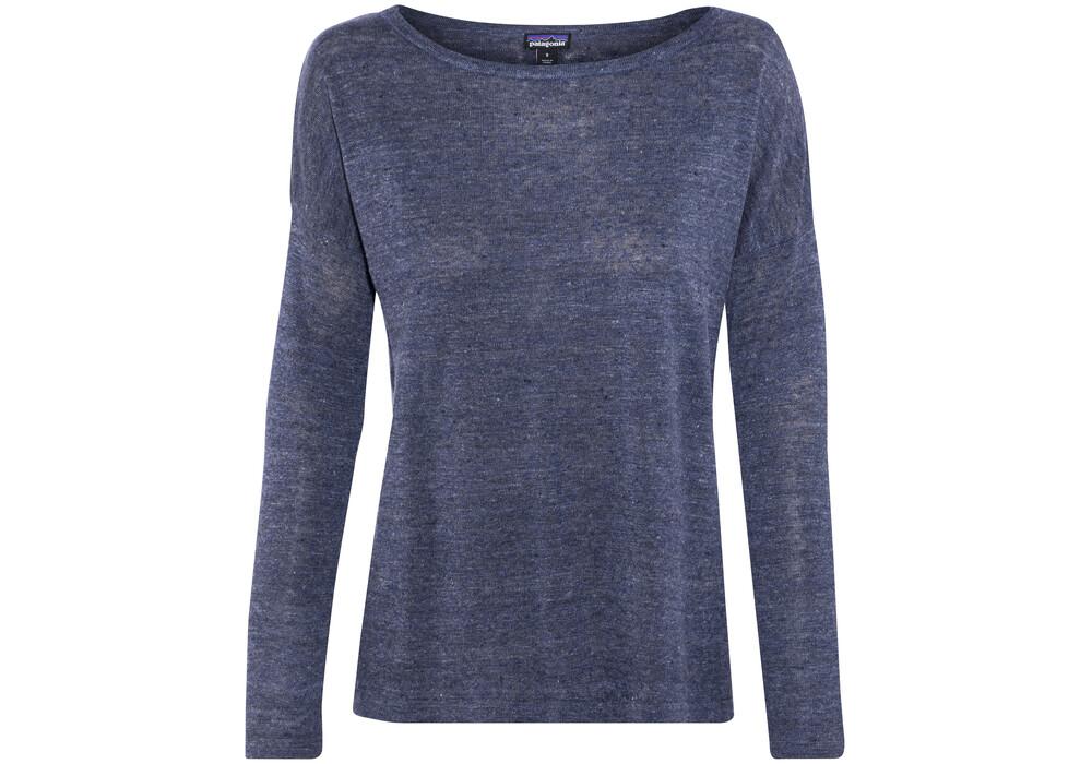 Patagonia Lightweight Linen Long Sleeve Shirt Women Blue
