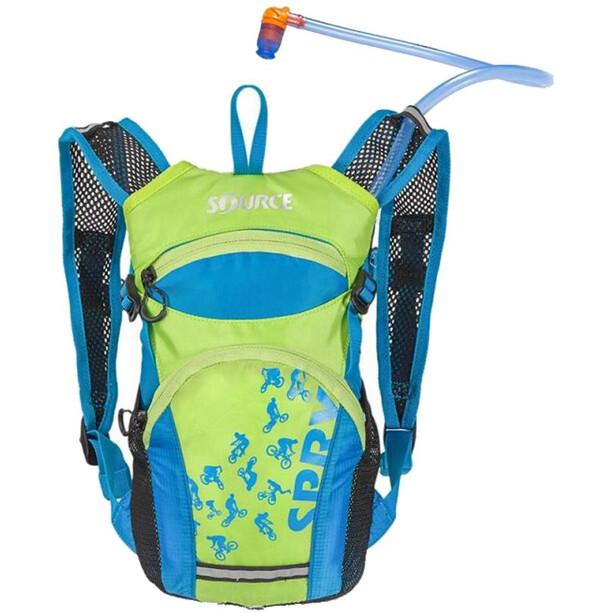 SOURCE Spry Trinkrucksack 1,5l Kinder light blue/green