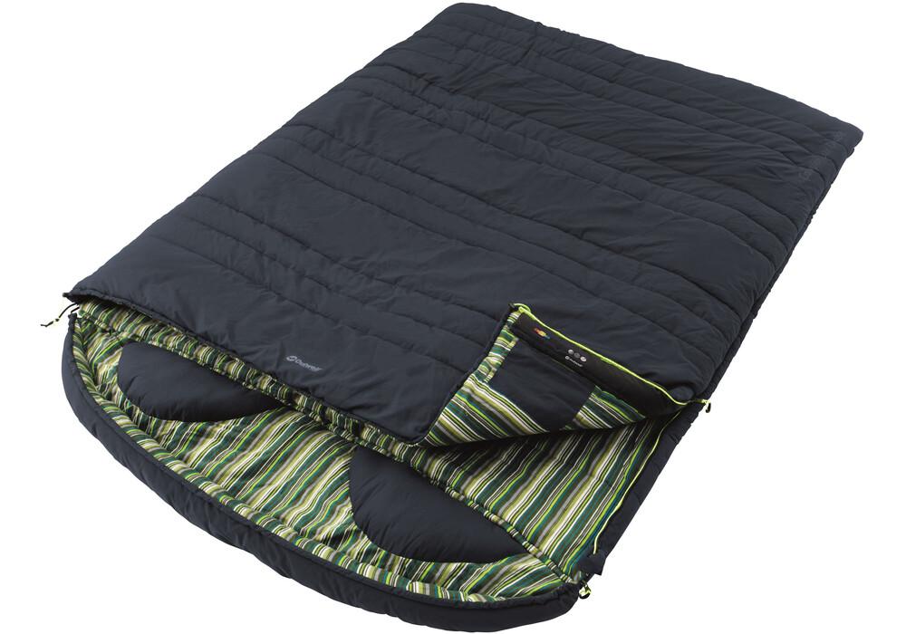 outwell camper lux double sac de couchage vert bleu sur. Black Bedroom Furniture Sets. Home Design Ideas