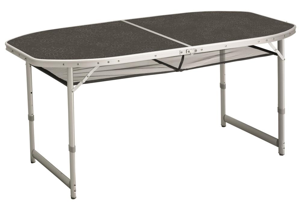 Outwell hamilton table de camping gris sur for Table align center
