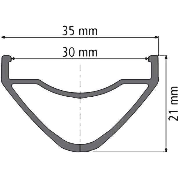 "DT Swiss XM 1501 Spline One Laufrad 27,5""/30mm VR Alu 100/15mm schwarz"