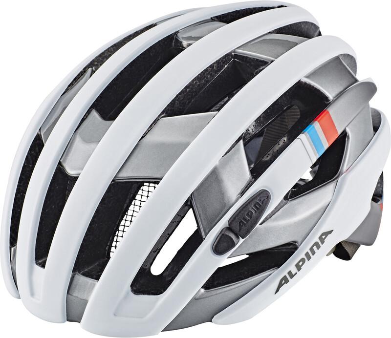 Alpina Campiglio Helmet white-silver-blue-red 55-59cm 2018 Fahrradhelme