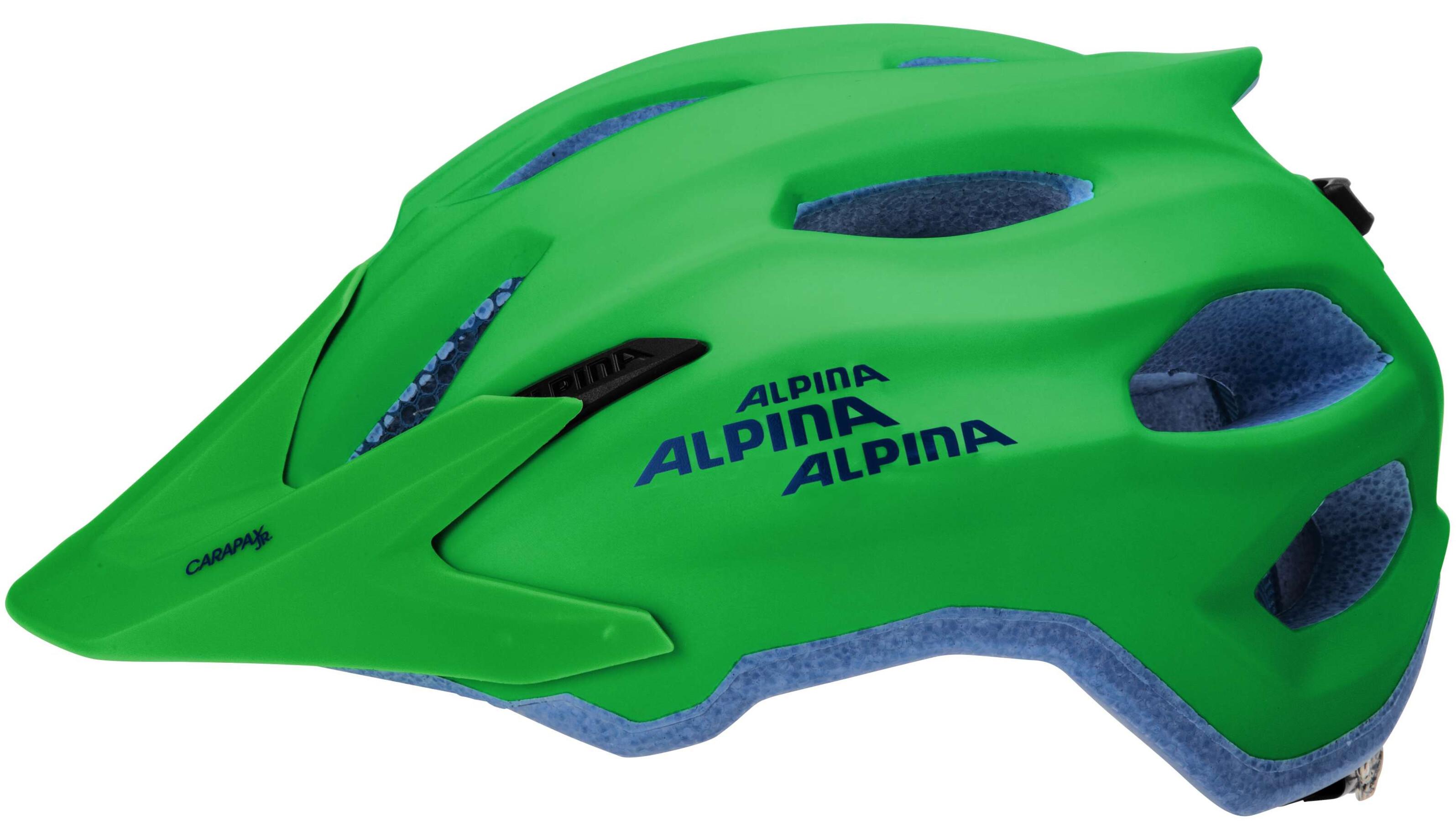 alpina carapax jr helmet green blue g nstig kaufen. Black Bedroom Furniture Sets. Home Design Ideas