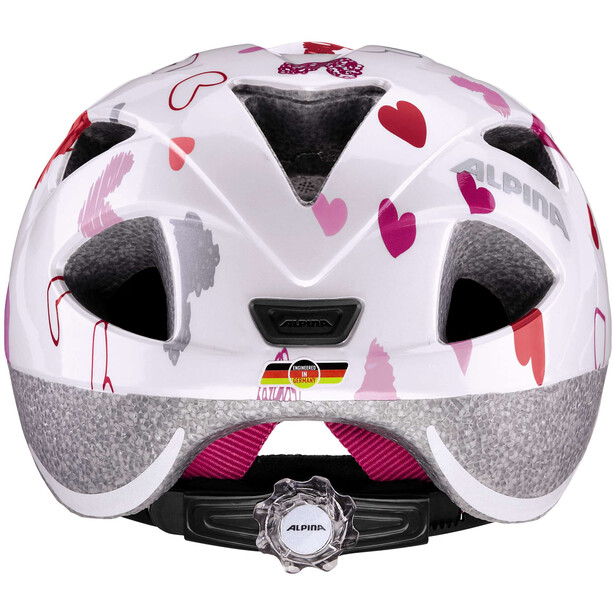 Alpina Ximo Helm Kinder white hearts