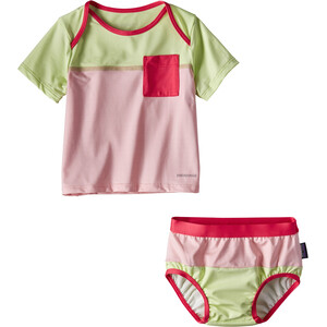Patagonia Little Sol Swim Set Barn feather pink feather pink
