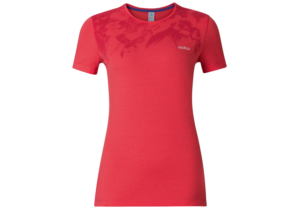 Odlo signo t shirt manches courtes femme rouge sur for T shirt printing fairlane mall