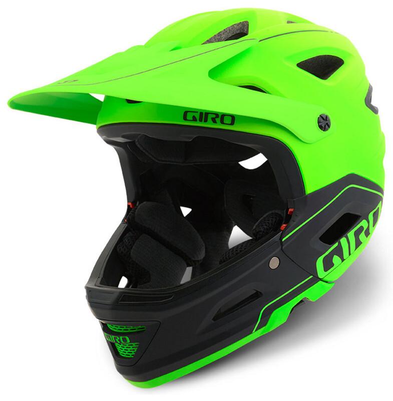 Giro Switchblade Mips Fullface Helmet mat lime/black 55-59 cm 2018 Fahrradhelme